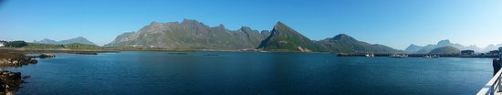 Flakstad Municipality, Norway: Panoramic view from the terrance.