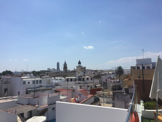Hotel Don Paco: View from the roof (by the pool and bar)