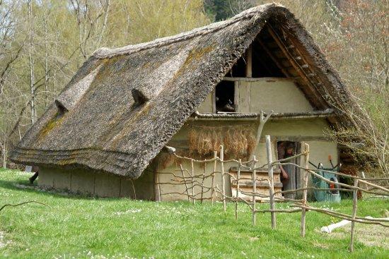 Village lacustre de Gletterens - la vie comme à l'époque de Néolitique