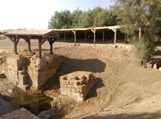 The Baptism Site Of Jesus Christ : Baptism site and perhaps the first church in the world.