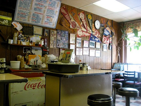 Glens Falls, Estado de Nueva York: Inside of Peter's Diner