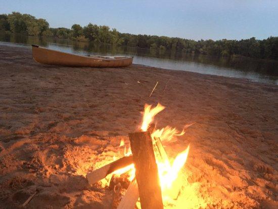 Boscobel, Висконсин: campsite for the evening