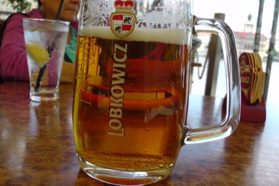 Hotel U Jezulatka: another view of the beer I had at the outdoor terrace bar on July 3, 2017