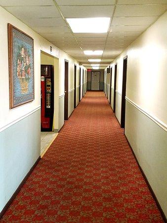 Knights Inn Williamsburg: Hallway