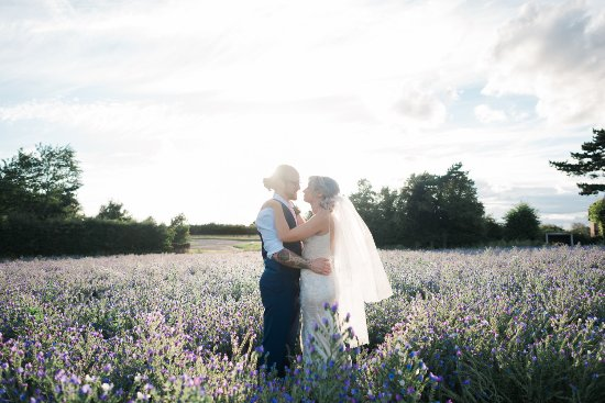 Feering, UK: Our wedding photos taken in a nearby field at Prested Hall. Photo by Stephanie Swann Phototgraph