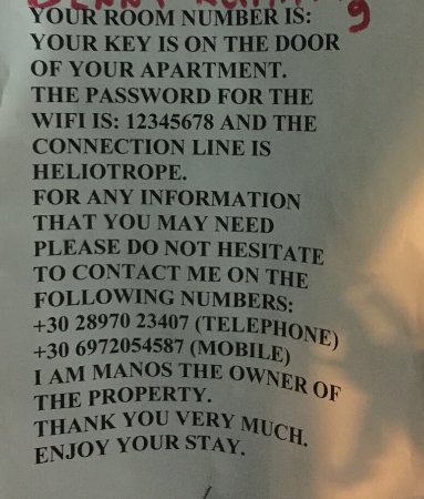Memories Apartments and Studios : Contact information!