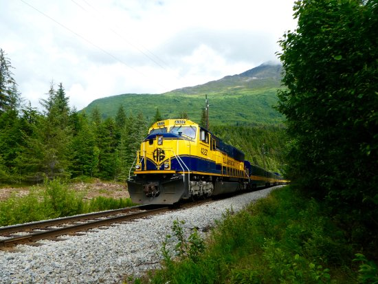 Moose Pass, AK: The awesome train going by