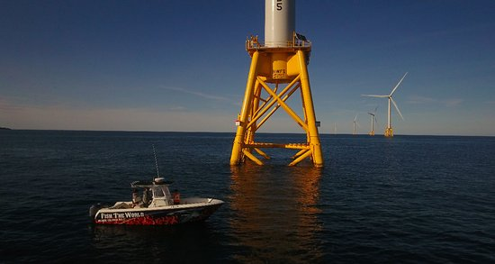 Block Island, RI: Fish The World at the wind farm