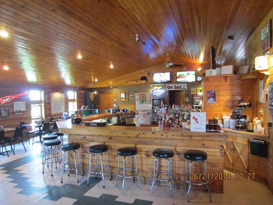 Squaw Lake, MN: Your first view of Fish Tales main bar as you walk in.