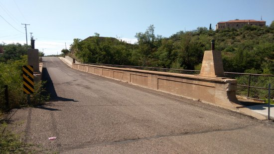 Historic Broadway Bridge: View towards Clarkdale