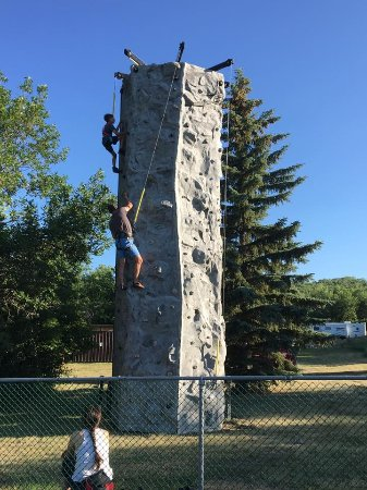 Moose Jaw, Kanada: 24' rock climbing wall
