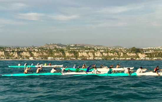 Outside of DANA POINT HARBOR, 😍Dana Outrigger Canoe Crew in action on the water!
