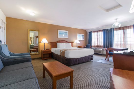 Quality Inn & Suites Redwood Coast: Single King Bed Suite - With Kitchen & Jacuzzi