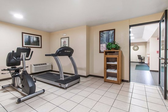 Quality Inn & Suites Redwood Coast: Gym with new equipment