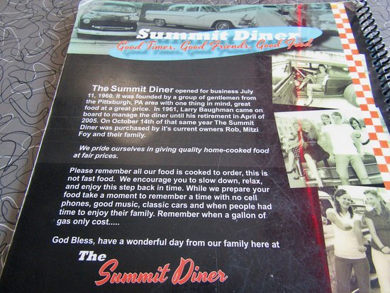 History - Picture of Summit Diner, Somerset - TripAdvisor