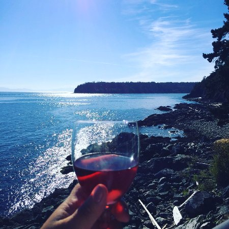Sechelt, Canadá: A glass of rose from the room balcony