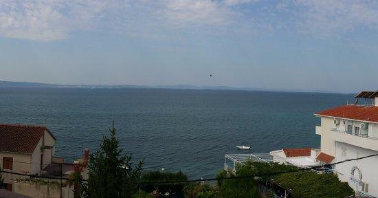 Seaside views from balcony (Pension Dioklecijan)