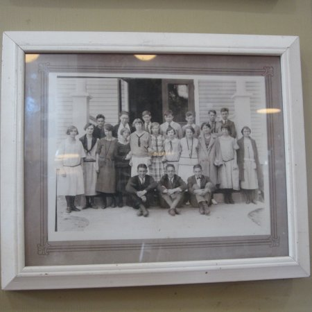 Chestertown, NY: this was a school at one time. Picture of students taken on the front porch