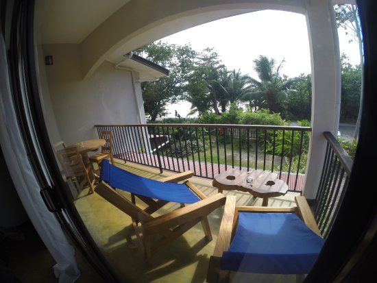 L'Hirondelle : Balcon avec vue sur l'océan