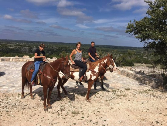 Mountain Home, TX: One of the few places offering horse back riding in the Hill Country.