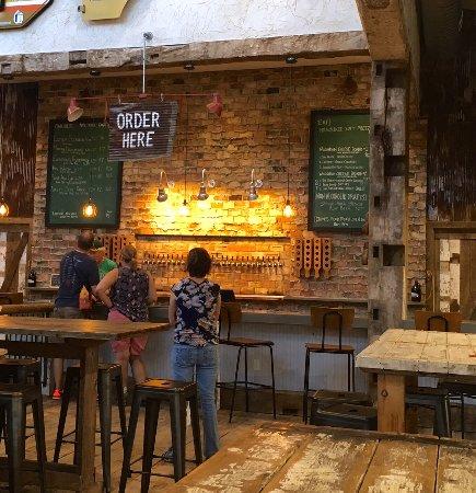 Baileys Harbor, WI: Order Bar at Door County Brewing Tap Room