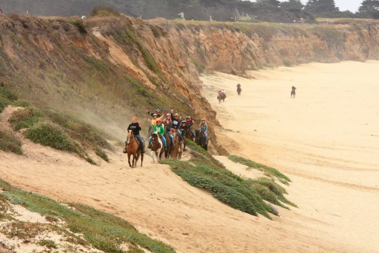 Half Moon Bay, CA: Horseback Riding on the Beach