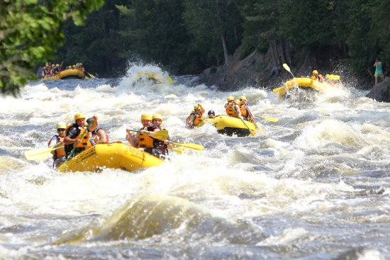 The Forks, ME: Daily rafting fun on the Kennebec River, Maine.