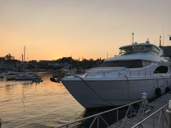 Belmont Inn: View of marina from Rhumb Line restaurant
