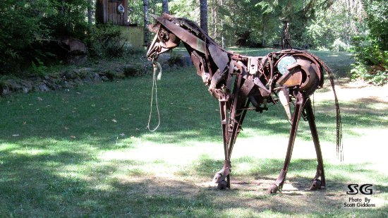 Recycled spirits of iron, Sculpture: Recycled spirits of iron,