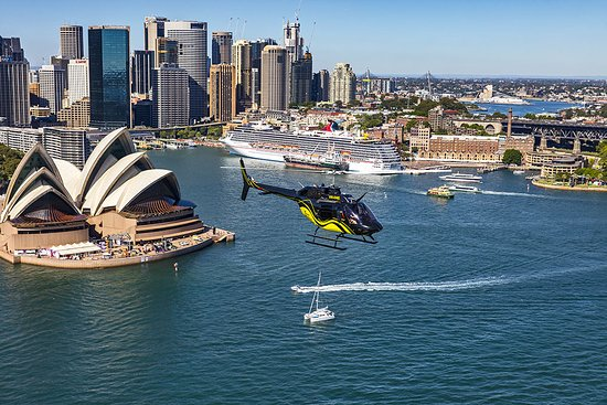 Маскот, Австралия: Helicopter over Sydney