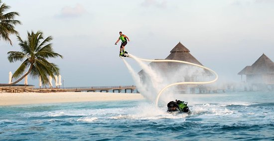 Conrad Maldives Rangali Island: Jet deck at Conrad Maldives