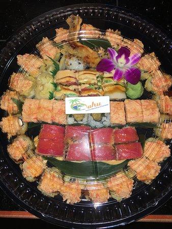 Oahu hawaiian bbq sushi bar thai cuisine bismarck for Aloha asian cuisine sushi