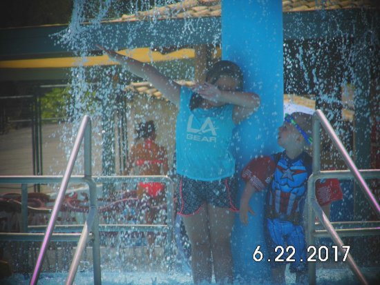 my grandaughter doing her dab at hydropolis - Picture of