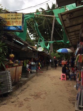 Railay Rock Climbing Shop - Day Adventures : The rock shop is on the walking street, right near where you arrive on the boats from krabi