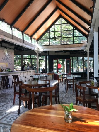 Café in designer inspired loft church