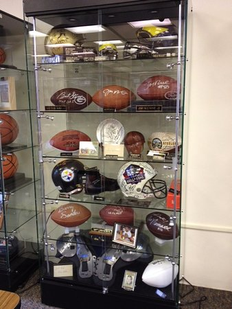 Sharon, PA: One of nine cases - authentic equipment, spectacular autographs!