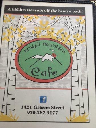 Kendall Mountain Cafe : Menu