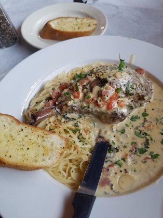 Watauga, TX: Crab stuffed pork chop