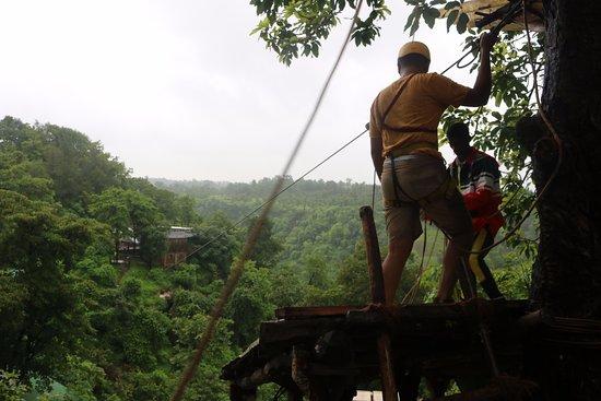 Dabhosa Waterfall Resort, a Nature Trails resort: Zip Line activity
