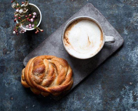 Hordaland, Norway: organic coffee and buns