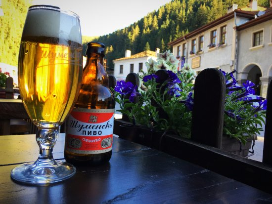 Shiroka Laka, Bułgaria: A cold beer on a warm day. Bulgarias best mainstream beer.