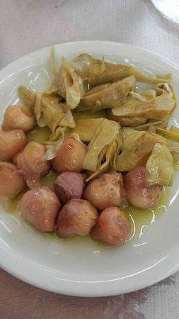 Iliomanolis Taverna: Αγκινάρες & ασκολύμπροι τουρσί