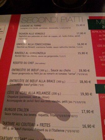 Les Angles, Francja: menu