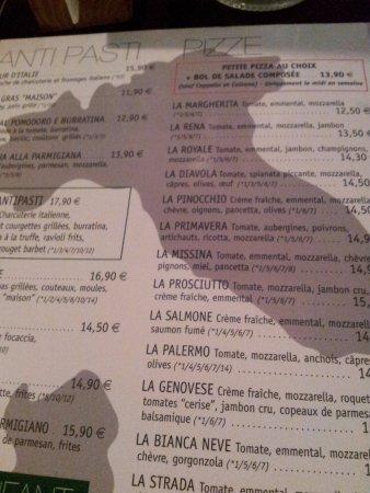 Les Angles, Francja: tarif pizzas