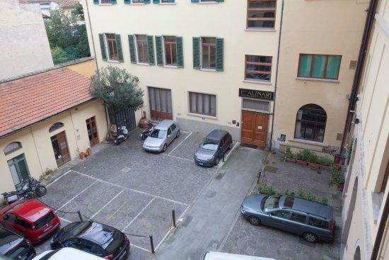 Parking inside  Hotel Ester