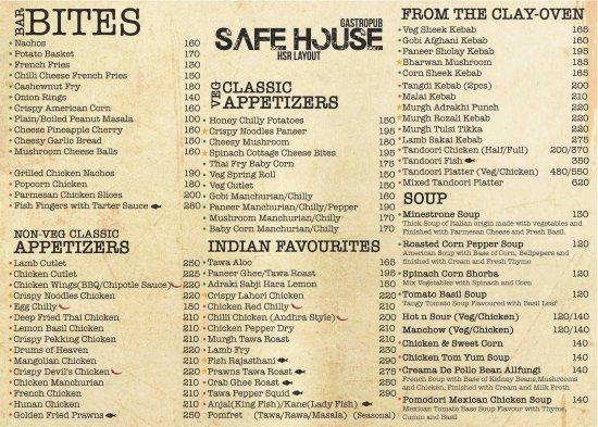 Cocktails picture of safe house gastropub bengaluru for Arman bengal cuisine dinas menu
