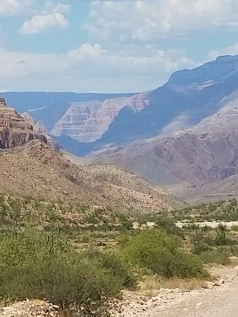 Williams, AZ: View of the Grand Canyon from a distance on the way back up