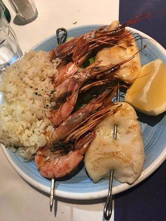 Ristorante Greco Esperides: grigliata di pesce