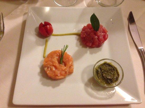 Nerino Dieci Trattoria: Bis di tartare con salsa nerino 10