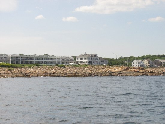 Ocean House Hotel at Bass Rocks: View of the hotel from the seaside